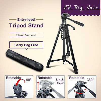"PRO Tripod for Digital Camera DSLR Camcorder 55"" Pan Head CANON NIKON"