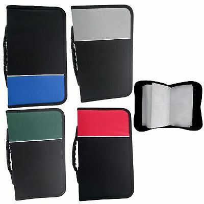 NEW 128 DVD/CD Case Wallet DISC Holder Fabric Folder Wallet Storage Carry Case