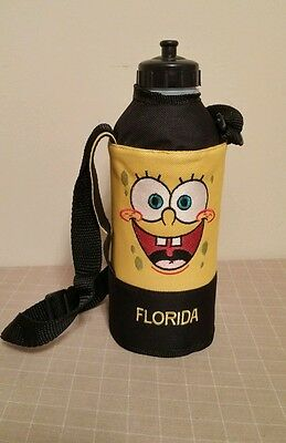 Spongebob Beverage Water Bottle Zipperd Bag Case Adjustable Strap Florida
