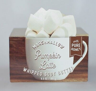 Bath Body Works Marshmallow Pumpkin Latte Whipped Butter Pure Honey Lotion 6.5Oz