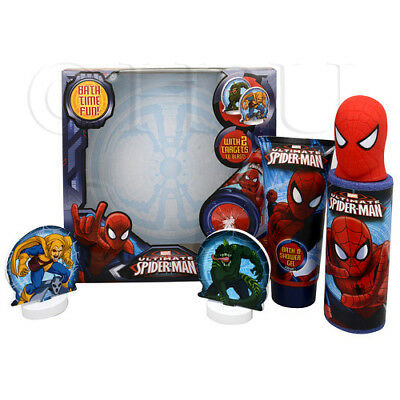Spiderman Water Shooter Gift Set Bath Kids Play Time Shower Gel Target Squirt