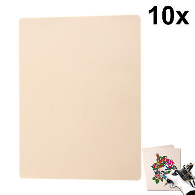 10 X Blank Tattoo Practice Skin Learning 20x15cm Fake False Designs Synthetic
