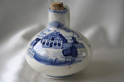 Vintage Gouda Bols Flask Made in Holland Collecting Dutch Delftware Gouda Design