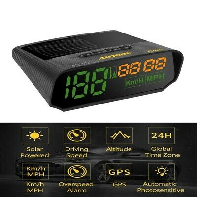 Autool GPS Solar Digital Head-Up Display KMH/MPH Alarm Speedometer For Car Motor