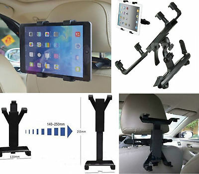 """Universal in Car Seat Tablet Mount Headrest Holder  iPad & Samsung Tab 7 to 11"""""""