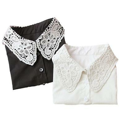 Women Vintage Dickie Ladies Embroidery Lace Fashion Detachable False Collar US