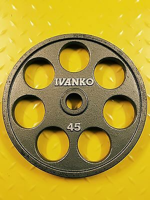 Each 45lbs Ivanko Olympic Commercial Gym Weight Plates