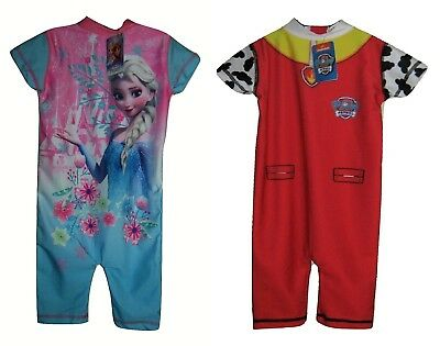All in One Bathing Suit Disney Frozen or Paw Patrol UV Protection Baby Toddlers