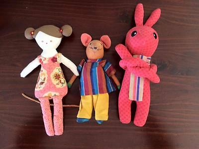 Toy bundle Cotton On rabbit, mouse & soft Alimrose design doll)