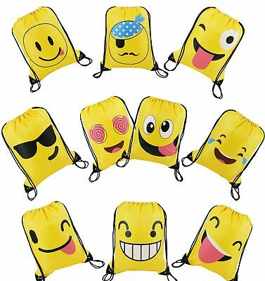 12 EMOJI BRACELETS RUBBER SILICONE EMOTICON CARNIVAL GOODY BAGS PRIZES PARTY