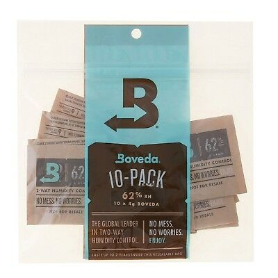 Boveda 62 Percent RH 2-Way Humidity Control 4 gram - 10 Pack