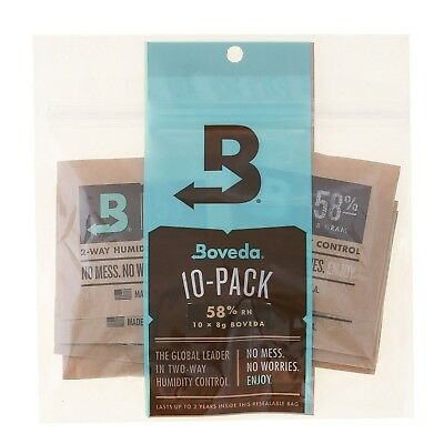Boveda 58 Percent RH 2-Way Humidity Control 8 gram - 10 Pack 58% RH Level