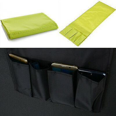 Arm Chair Holder Storage Bag Organizer Couch Remote Control Caddy With 4 Pocket