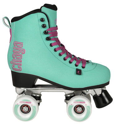 Chaya Melrose Deluxe Turquoise Quad Skates! Rollschuhe made by Powerslide