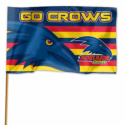 Adelaide Crows AFL GAME DAY Pole Flag Banner Fathers Day Man Cave Christmas Gift