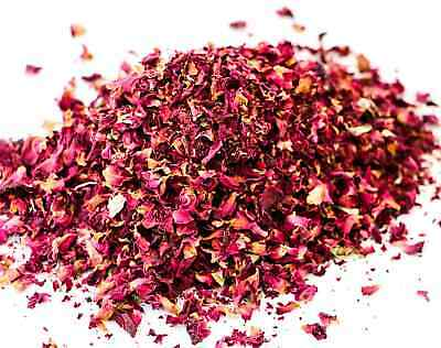 RED ROSE PETAL 100g Dried Wedding Tea - No Added DYES Certified Organic Healthy