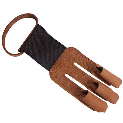 Archery Protect Gloves 3 Fingers Pull Bow arrow Faux Leather Shooting Gloves 1pc