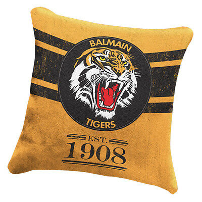 Wests Tigers NRL HERITAGE Cushion fabric Pillow Christmas Birthday Gift