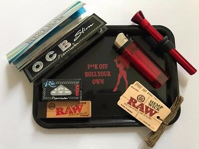 Novelty Rolling Tray Smoking Gift Pack - Ocb - Rizla - Raw