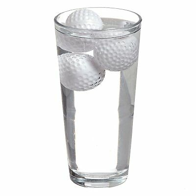 Golf Balls Novelty Plastic Reusable Cool Drinks Ice Cubes Cocktails Bar 12x UK
