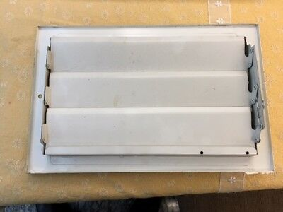 """3 AIR REGISTER 6"""" x 10"""" Wall White Metal AC Heat Conditioning Duct Vent Used"""