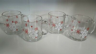 Coca-Cola Snowflake Mug set of 4