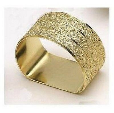 Gold Flat Bottomed Napkin Rings