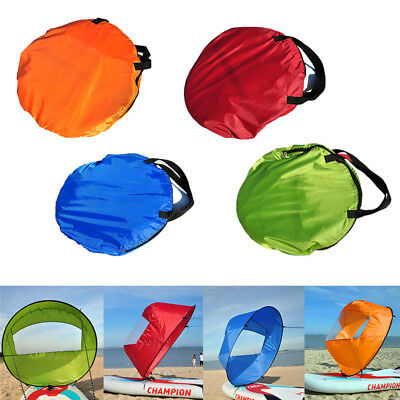 """46"""" Portable PVC Downwind Wind Paddle Instant Popup Board Kayak Sail Accessories"""