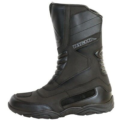 Richa Vapour Black Touring Waterproof Motorcycle Boots all sizes+FREE SOCKS QZ
