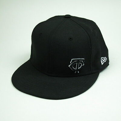 san francisco 0fa8a 5d12f NEW ERA 59FIFTY 100% Wool Minnesota Twins MLB Hat Black and White Size 7 5
