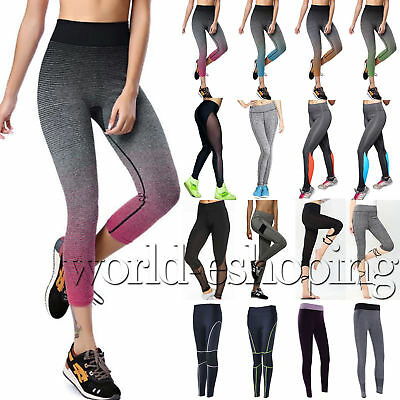 Women Workout High Waist Sports Pants Running Yoga Gym Fitness Leggings Trousers