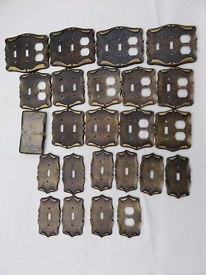 Lot of 24 Vtg.Solid Brass Amerock Carriage House Outlet&Light Switch Plate Cover