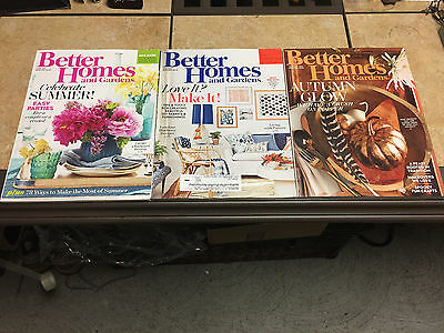 3 Better Homes And Gardens & Magazine Lot Magazines 2016