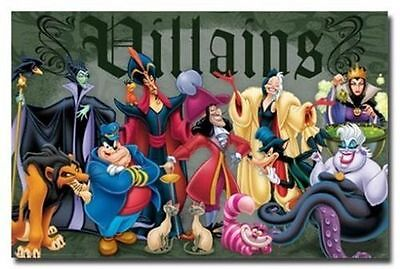 DISNEY CLASSIC VILLAINS POSTER 34x22 NEW FREE SHIPPING