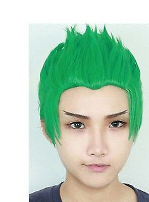 WIG PARRUCCA Overwatch OW youth Jugend Genji Grün Green Cosplay