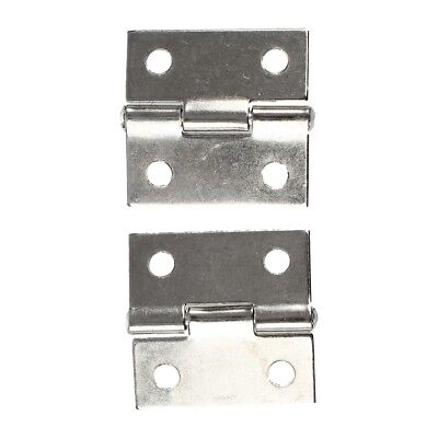 "2 Pcs 25 x 20x 5mm/ 1"" x 0.8"" Gray Metal 1"" Small Butt Hinge for Cabinet E3O8"