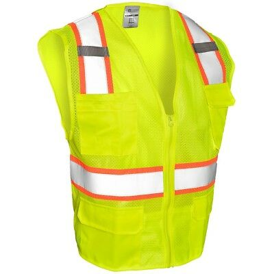 ML Kishigo Class 2 Reflective Safety Vest with Pockets, Yellow