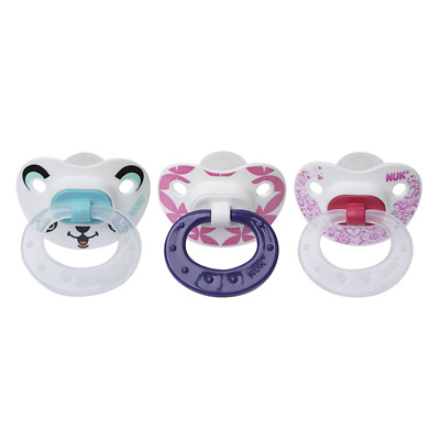 NUK 3 Piece Orthodontic Pacifiers, Girl, 6-18 Months