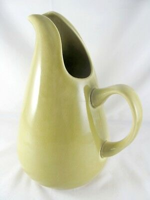 Steubenville American Modern Chartreuse Pitcher, 72 oz, Russel Wright, vtg