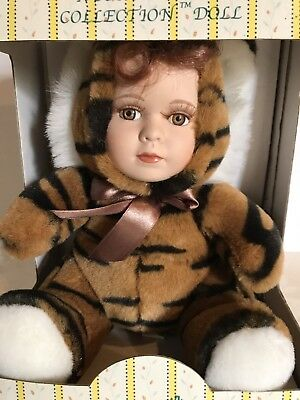 NIB Seymour Mann_TIGER-Costumed_Connoisseur Collection Porcelain Doll