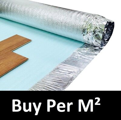 3mm Acoustic Silver Underlay - For Wood or Laminate Flooring - Top Quality