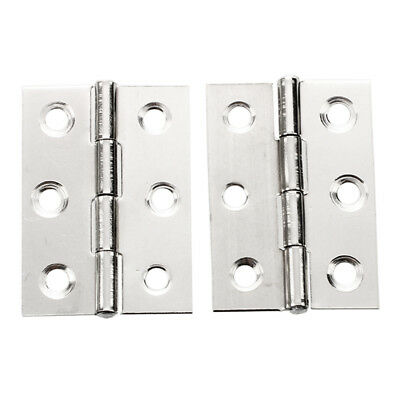 2pcs Stainless Steel 2 Inch 4.4x3.1cm Cabinet Door Hinges Hardware S7X1