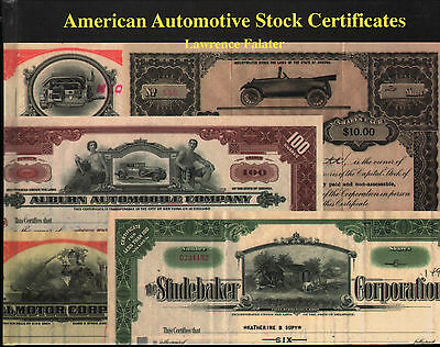American Automotive Stock Certificates NEW Illustrated Book FREE Shipping in USA