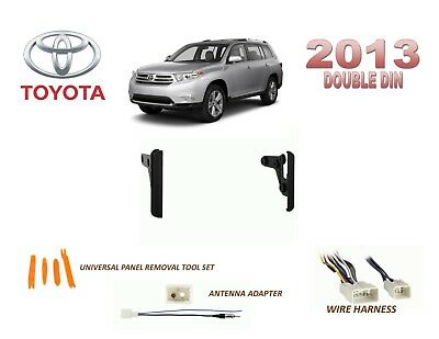 2013 TOYOTA HIGHLANDER DASH INSTALL KIT for CAR STEREO, with WIRE HARNESS