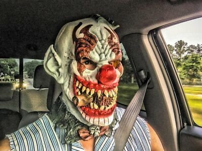 Mask Fonzo The Clown Halloween Costume Scary Adult Latex Accessory