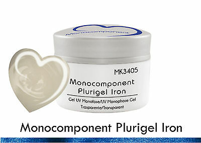 Single component Plurigel Iron Gel UV Monophase Transparent x Reconstruction