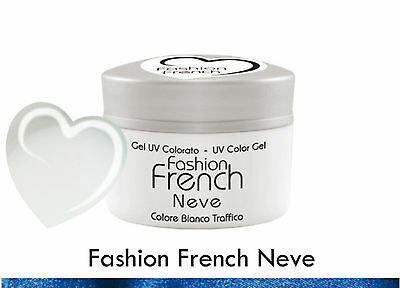 Gel UV Coloured White Fashion French Reconstruction Nails pubblicità