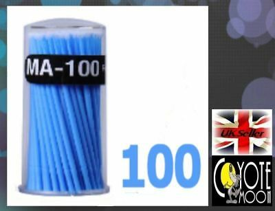 100pcs 1.5mm Head Micro Brushes Swabs  Tube Applicators Eyelash Extension UK