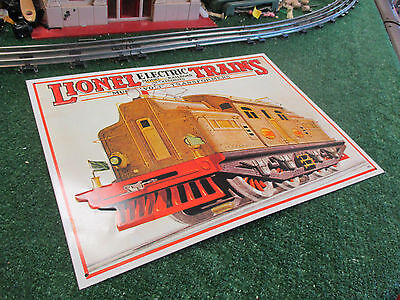 Lionel Electric Trains Lithographic Tin Sign