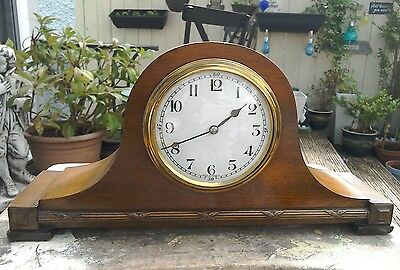 Antique French Wooden Mantle Clock